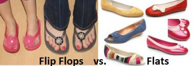flip flops versus flats
