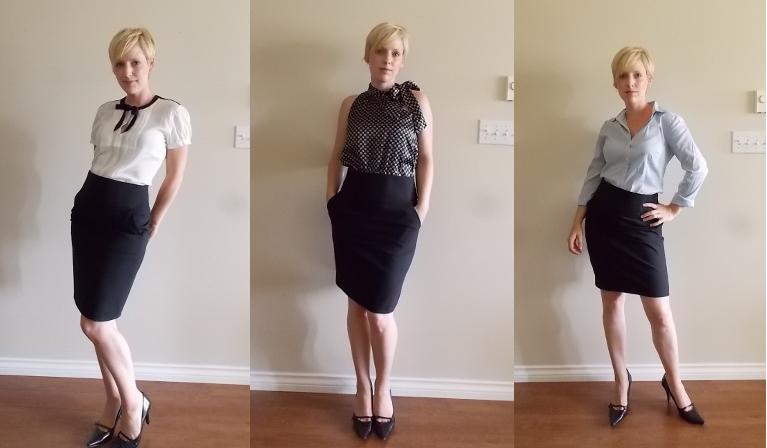 1 3 ways black pencil skirt work wear style