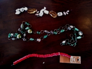 necklaces, re-working, crafts