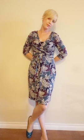 Dressing for success, wrap dress, business clothing