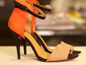 shoes, orange heels, dressing for success