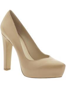 Nude platform heel, nine West