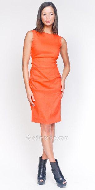orange sheath, Nicole Miller Dress