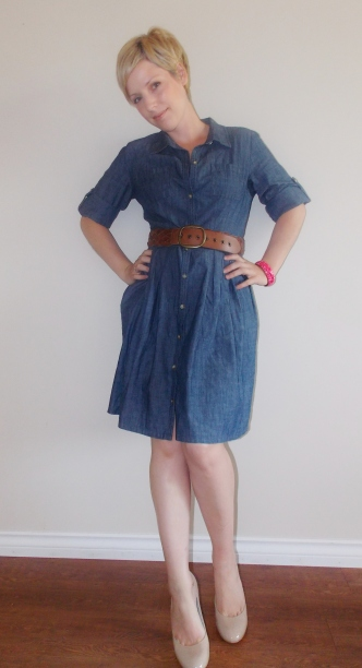 Chambray Dress, Shirt Dress, Dressing for Success, Business Clothes