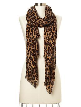 animal print scarf, leopard print