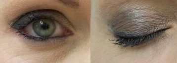 smokey eye make up, green eyes