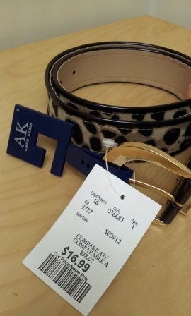 animal print belt, Ann Klein