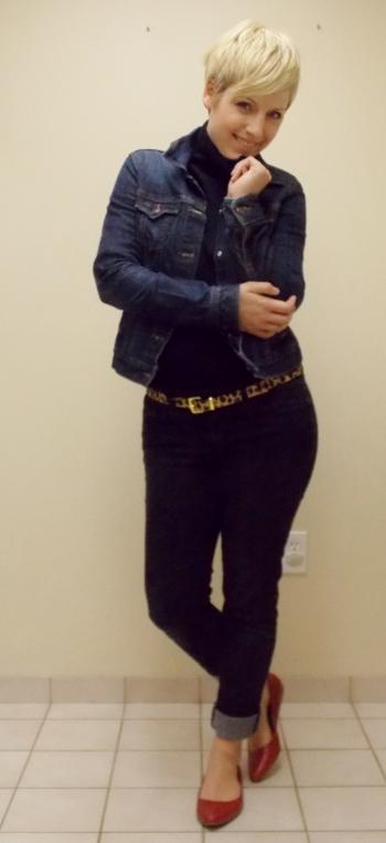 jean jacket, leopard print belt