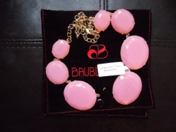 Chunky Pink necklace, Baublebar, accessories,