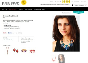 Screen Shot of Model Photo Available on Baublebar