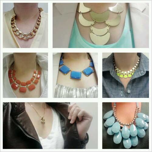 Necklaces for work, chunky necklaces