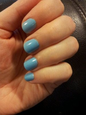 Blue nail polish for work