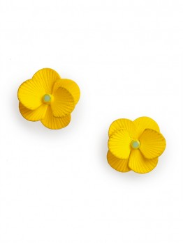 Bauble Bar - Lemon Pansy Studs - $22