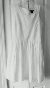 white eyelet dress, White Dress for Work, Old Navy Dress