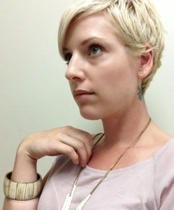 short blonde hair cut for women
