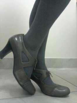 grey heels for work, Naturalizer