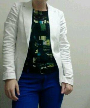 White Blazers, Cobalt Pants