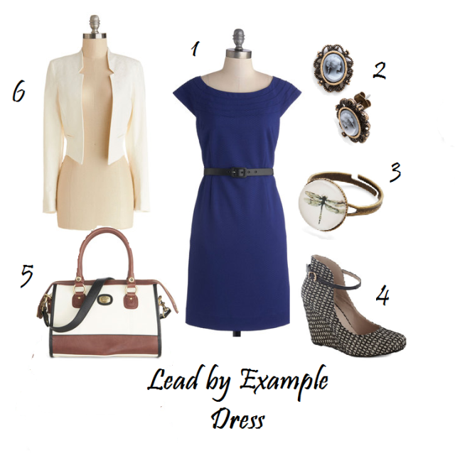 Lead by Example Dress, Cobalt Sheath Dress
