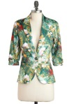 Green Patterned Blazer