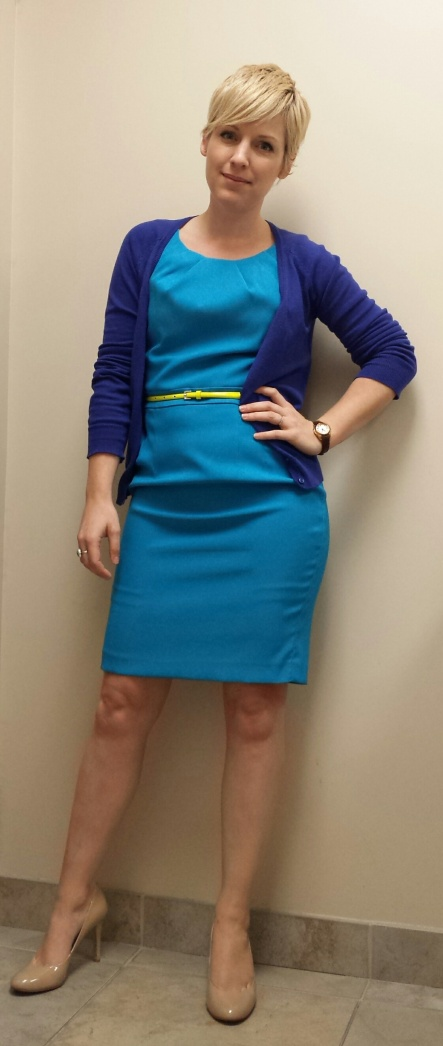 Spring Style, Turquoise Sheath, Neon Yellow